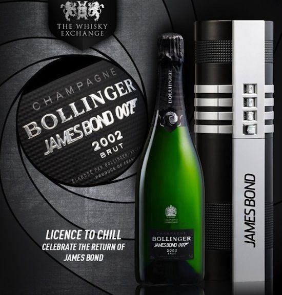 limited edition bond themed champagne nerd stuff pinterest. Black Bedroom Furniture Sets. Home Design Ideas