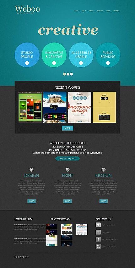 Modèle Moto CMS HTML pour site de design web | Adobe photoshop ...