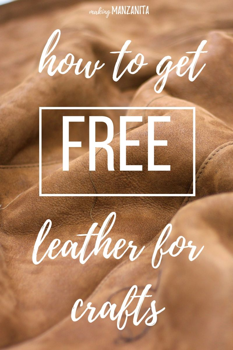 If you love leather, you'll appreciate this hack on how to get FREE leather for DIY crafts and all of these great leather craft ideas to inspire you.