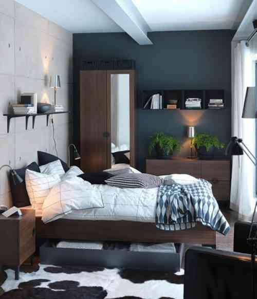Petite chambre à coucher en bleu | bedroom | Déco petite ...