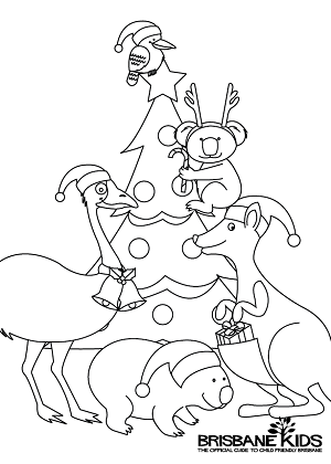 Christmas Australiana Colouring In
