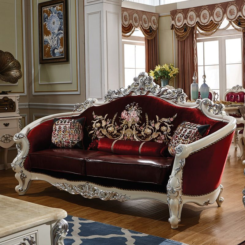 Attrayant Find More Living Room Sofas Information About Antique Sofa Set Solid Wood  Carving Style Leather Sofa