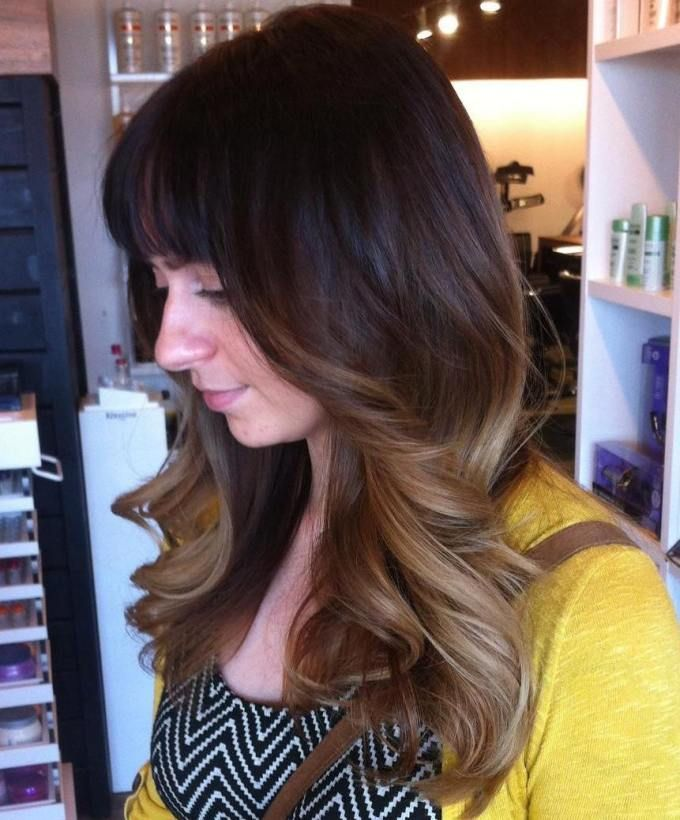 Medium Brunette Ombre Hairstyle