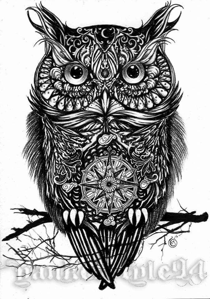Stylized Owl Tattoo Sketch Owl Tattoo Drawings Owl Tattoo Owl