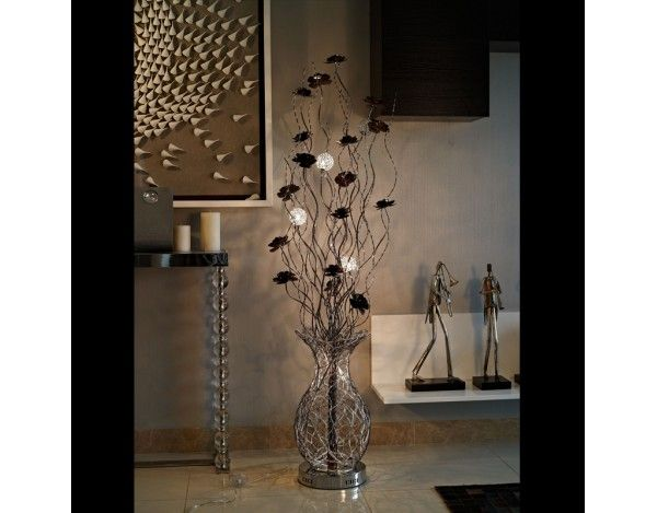 Passion Copper Coffee Woven Wire & Aluminium Floor Lamp | Wire Floor ...