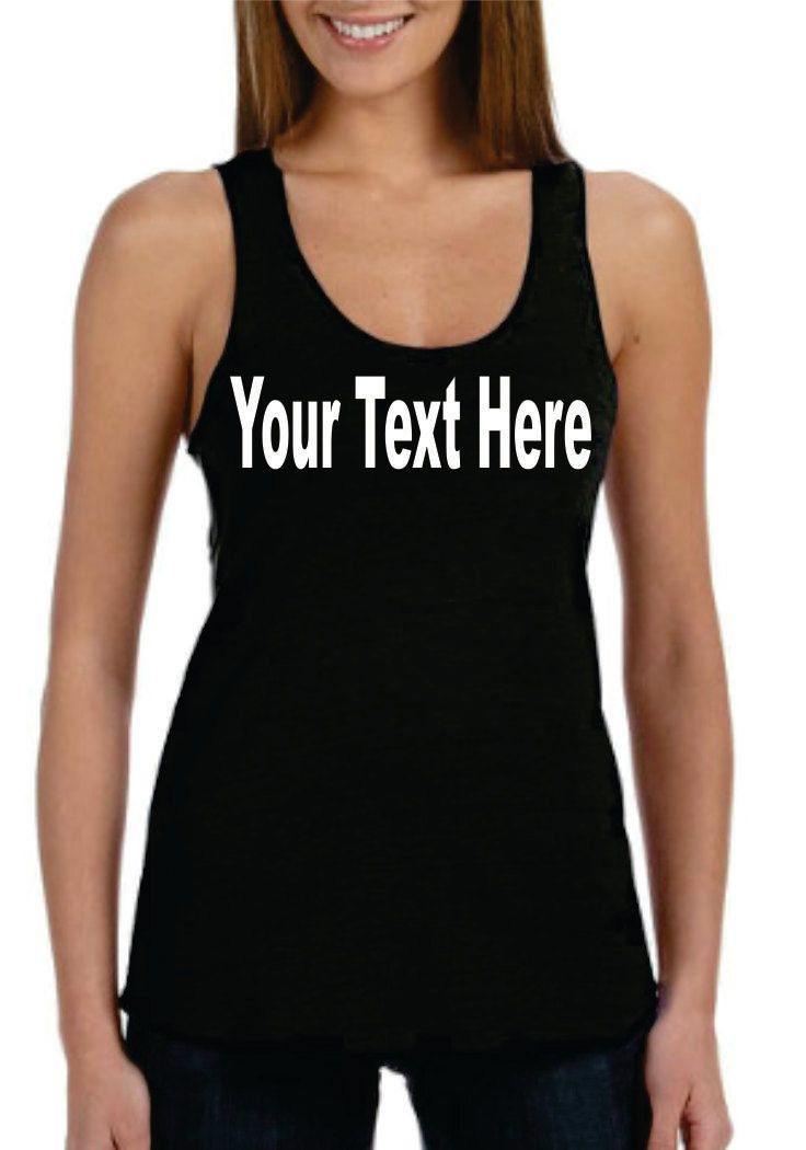 Custom Text  Workout  ECO Tank - S - XL by USCustomtees4u on Etsy