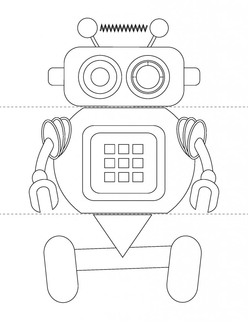 Flip A Robot Activity Book Book Activities Robot Activity Printable Activities [ 1024 x 791 Pixel ]