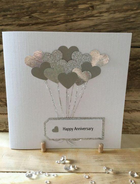 Anniversary Card Handmade Anniversary Cards Handmade Wedding Cards Handmade Cricut Anniversary Card