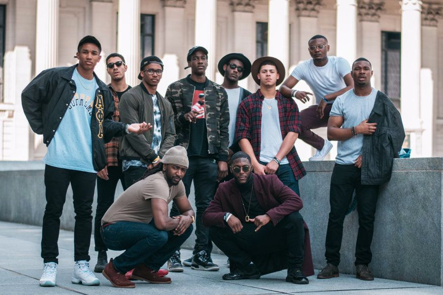 Image result for stock image of a group of young male black friends