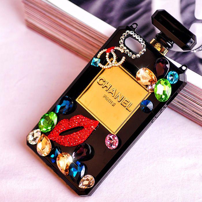 Coque CHANEL lèvre diamant bling bouteille parfum pour iPhone 4 5 ...