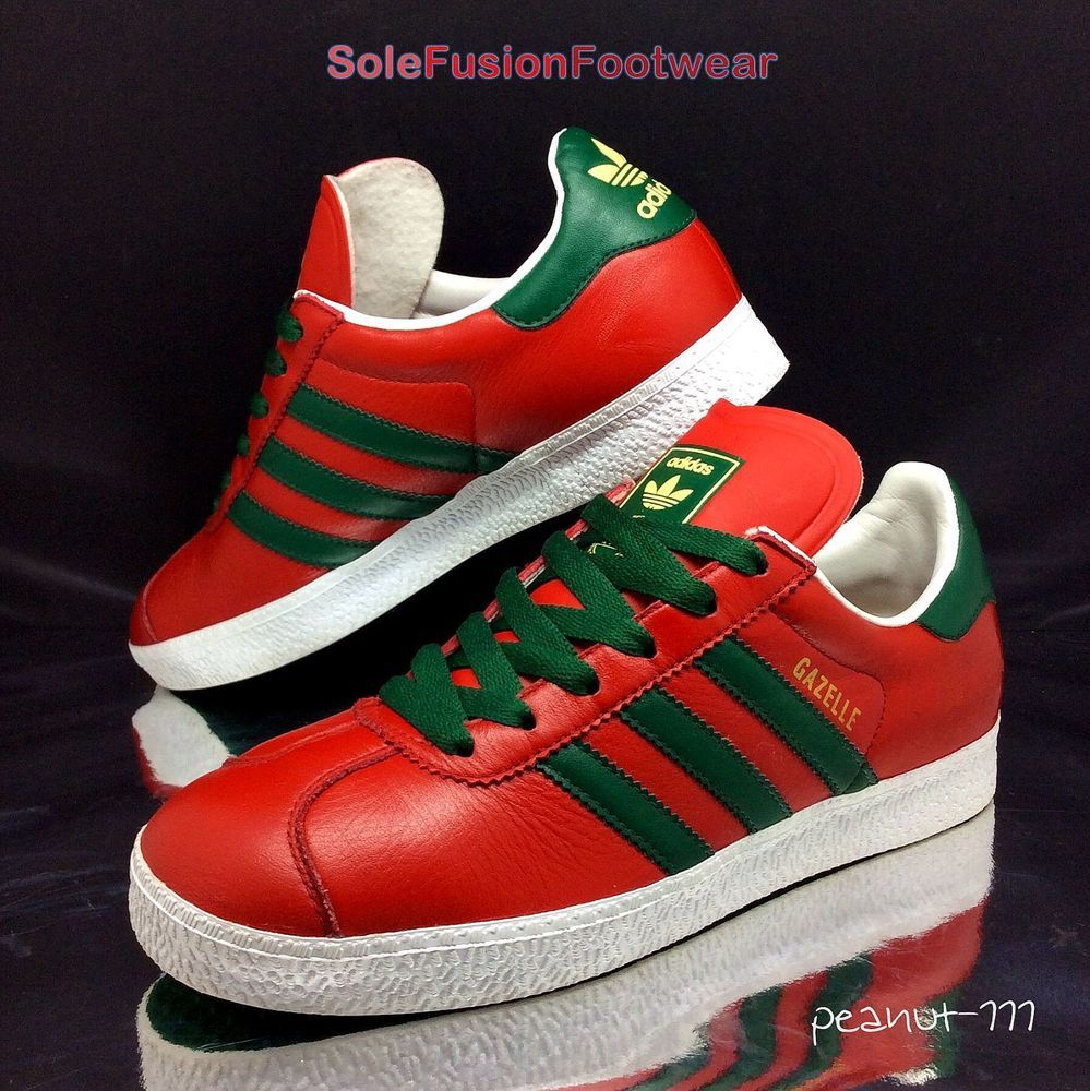 women's red adidas gazelle trainers
