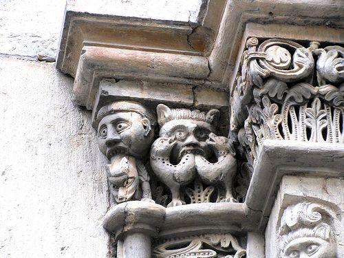 Romanesque sculptures, St Severus church, Boppard, Germany by j.labrado, via Flickr