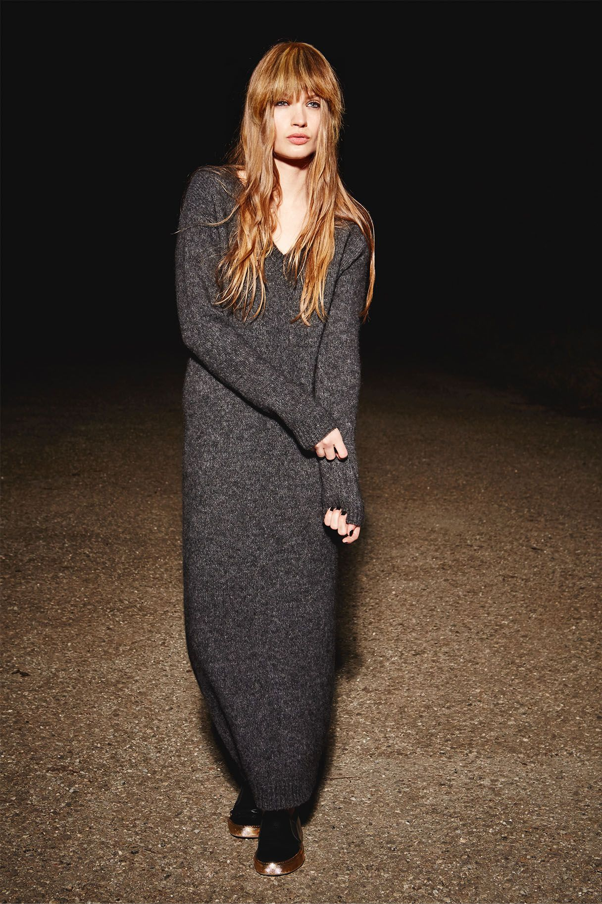 long knit-dress