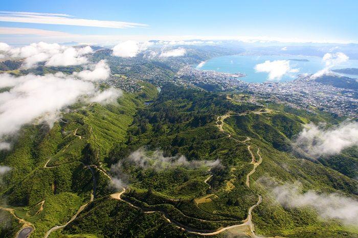 Zealandia - Zealandia from the air
