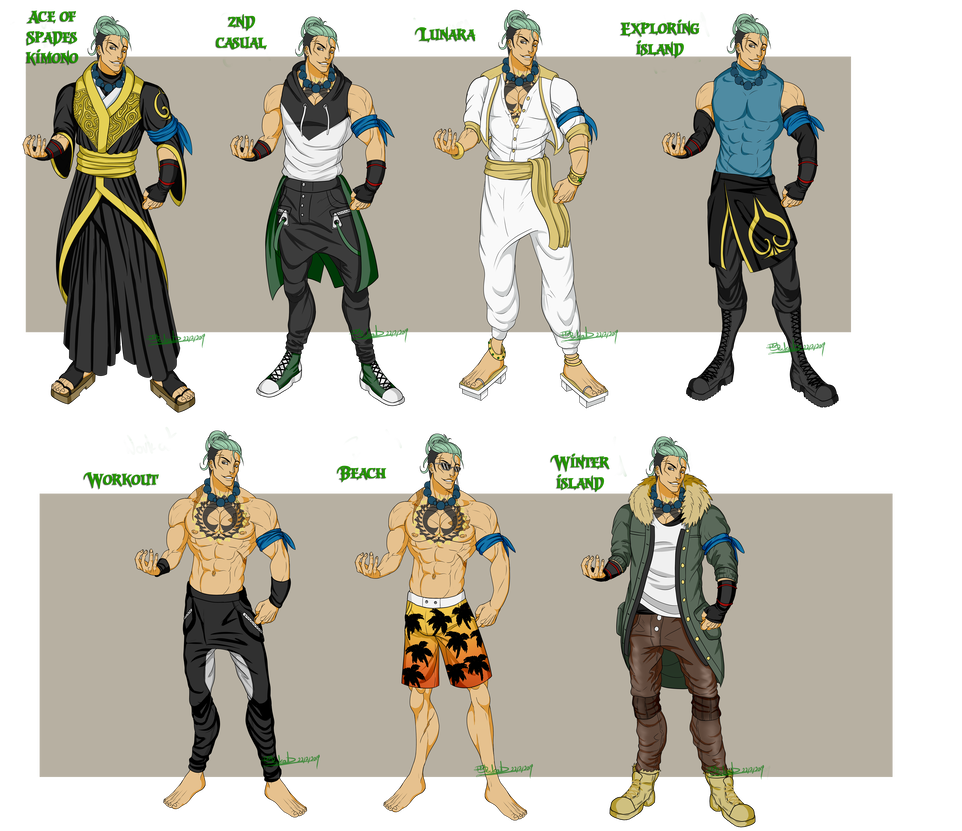 One Piece Keisuke S Outfits By R Blackout On Deviantart One Piece Fanart One Piece One Piece Anime