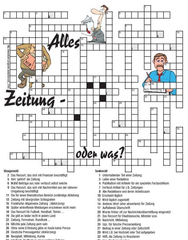 Kreuzworträtsel Deutsch