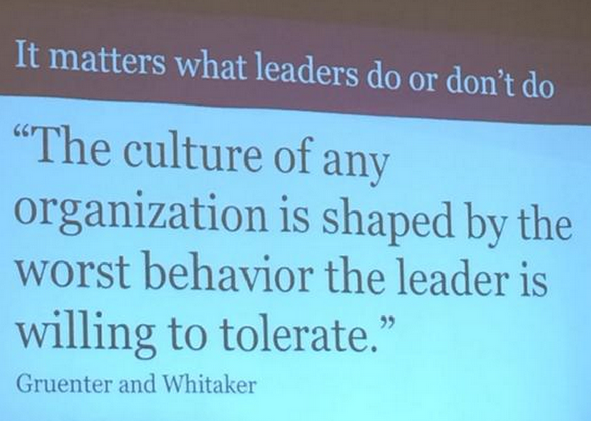 life of an educator 10 images to share at your next faculty it matters what leasers do or don t do the culture of any organization is shaped by the worst behavior the leader is wiling to tolerate