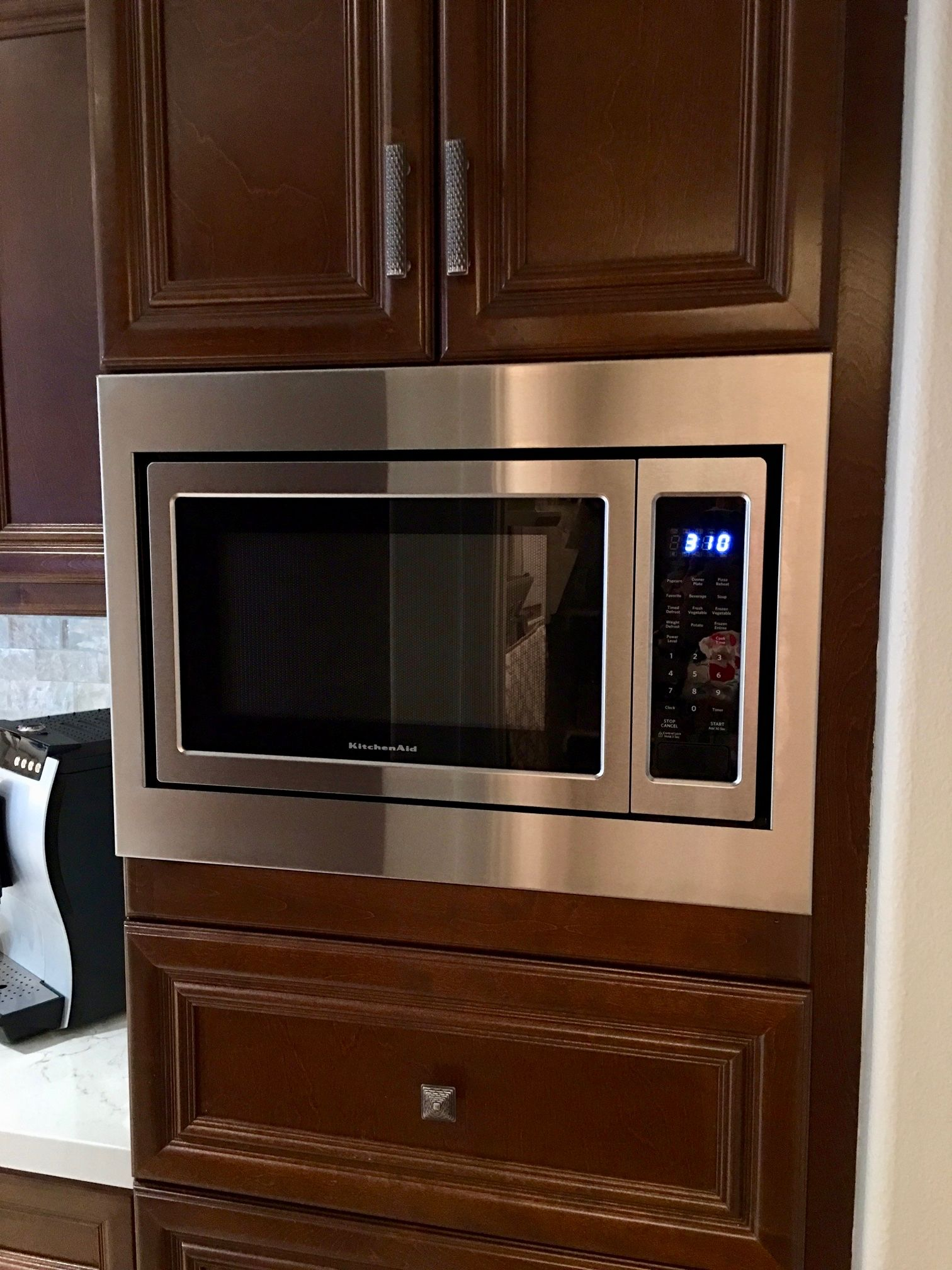 kitchen aid microwaves pantry cabinet ikea custom trim kit for a kitchenaid microwave model