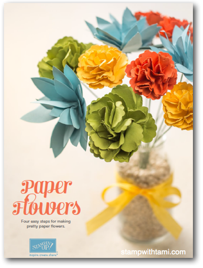 How to make paper flowers using Stampin Up blossom punch. Free tutorial