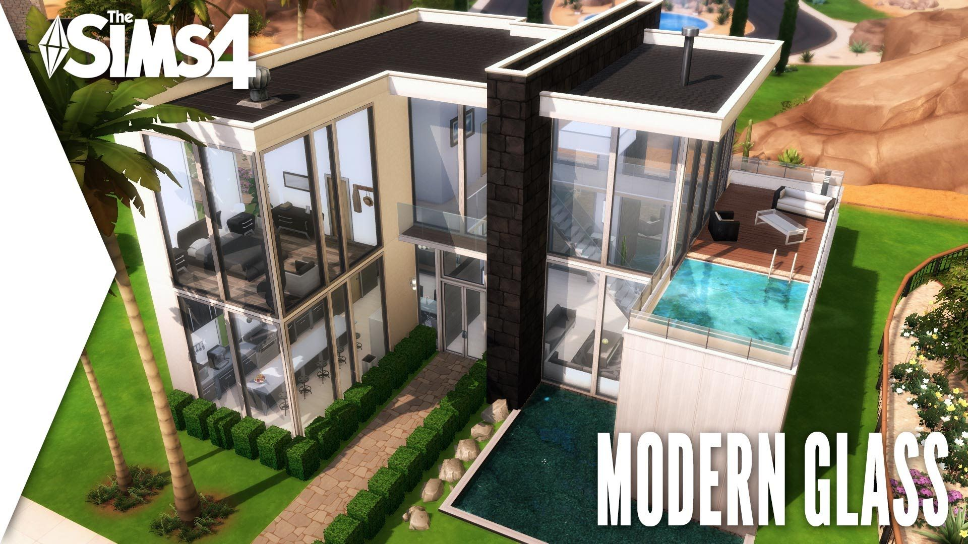 the sims 4 speed build 163 modern glass the sims pinterest