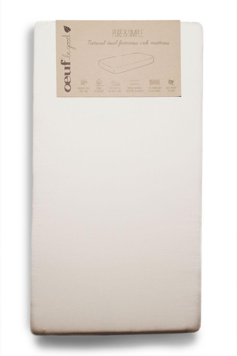 Oeuf Dual Firm Mattress Crib Mattress Pure Products