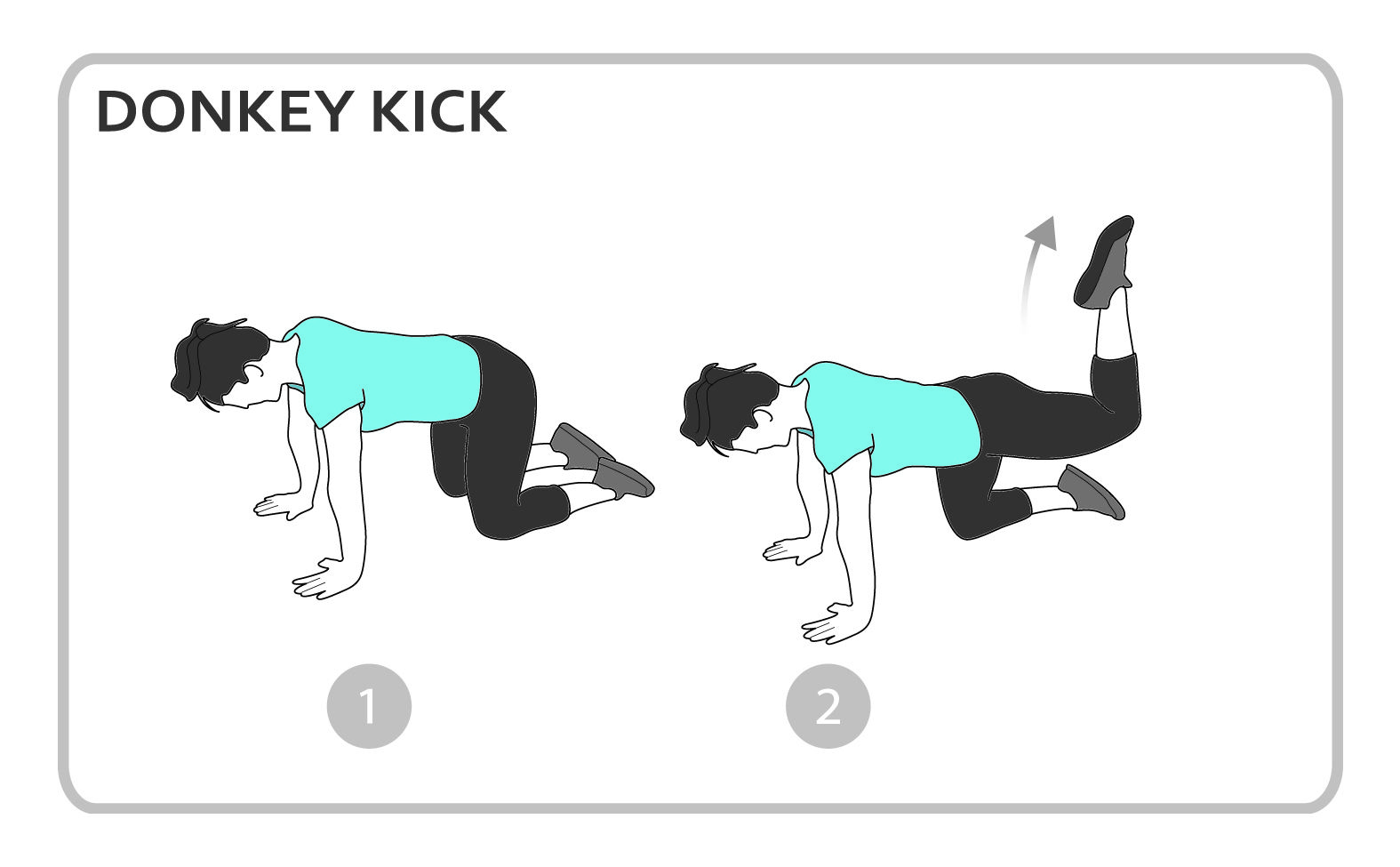Donkey Kick Exercise Diagram Lower Body Personal Fitness