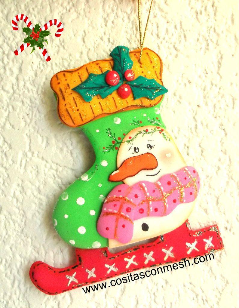Adornos navide os en goma eva paso a paso navidad snowman and snowman crafts - Manualidades de navidad paso a paso ...