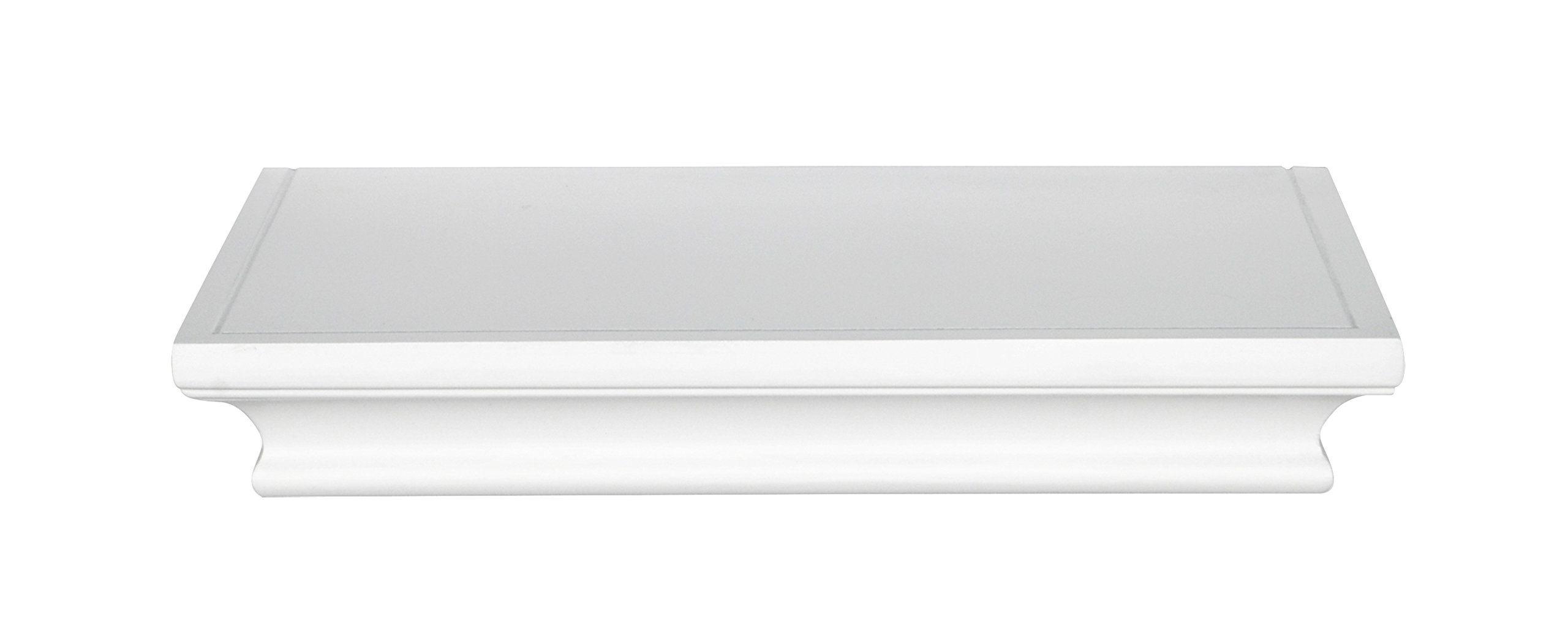 Mcs 66867 traditional style deep wall shelfledge 12 long white mcs 66867 traditional style deep wall shelfledge 12 long white finish amipublicfo Choice Image