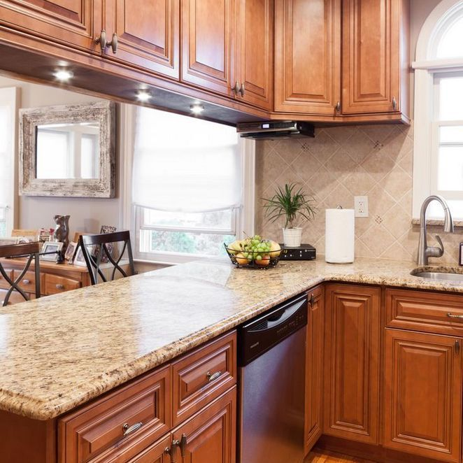 59+ Maple Cabinets With White Countertops Backsplash Ideas ... on Backsplash Ideas For Maple Cabinets  id=75482