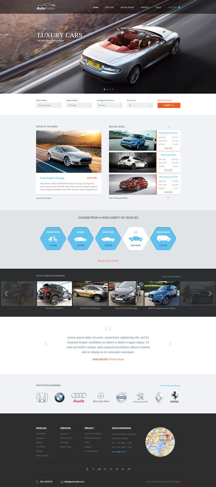 auto, car, options, layout | Web Design | Pinterest | Wordpress, Web ...