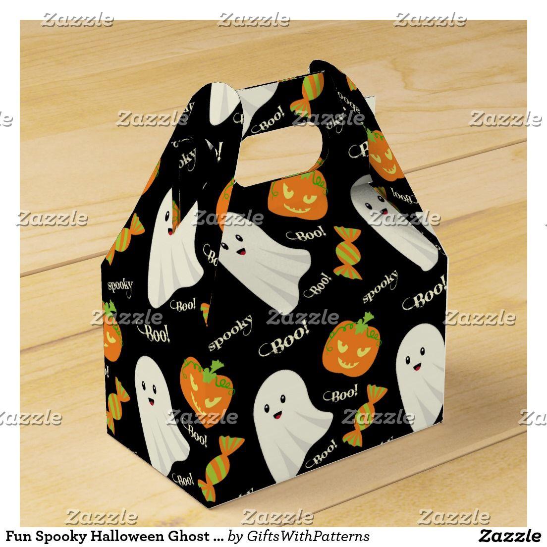 Cute Spooky Halloween Ghost Pumpkin Candy Pattern Favor