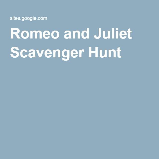 Romeo and Juliet Scavenger Hunt | Shakespeare | Pinterest