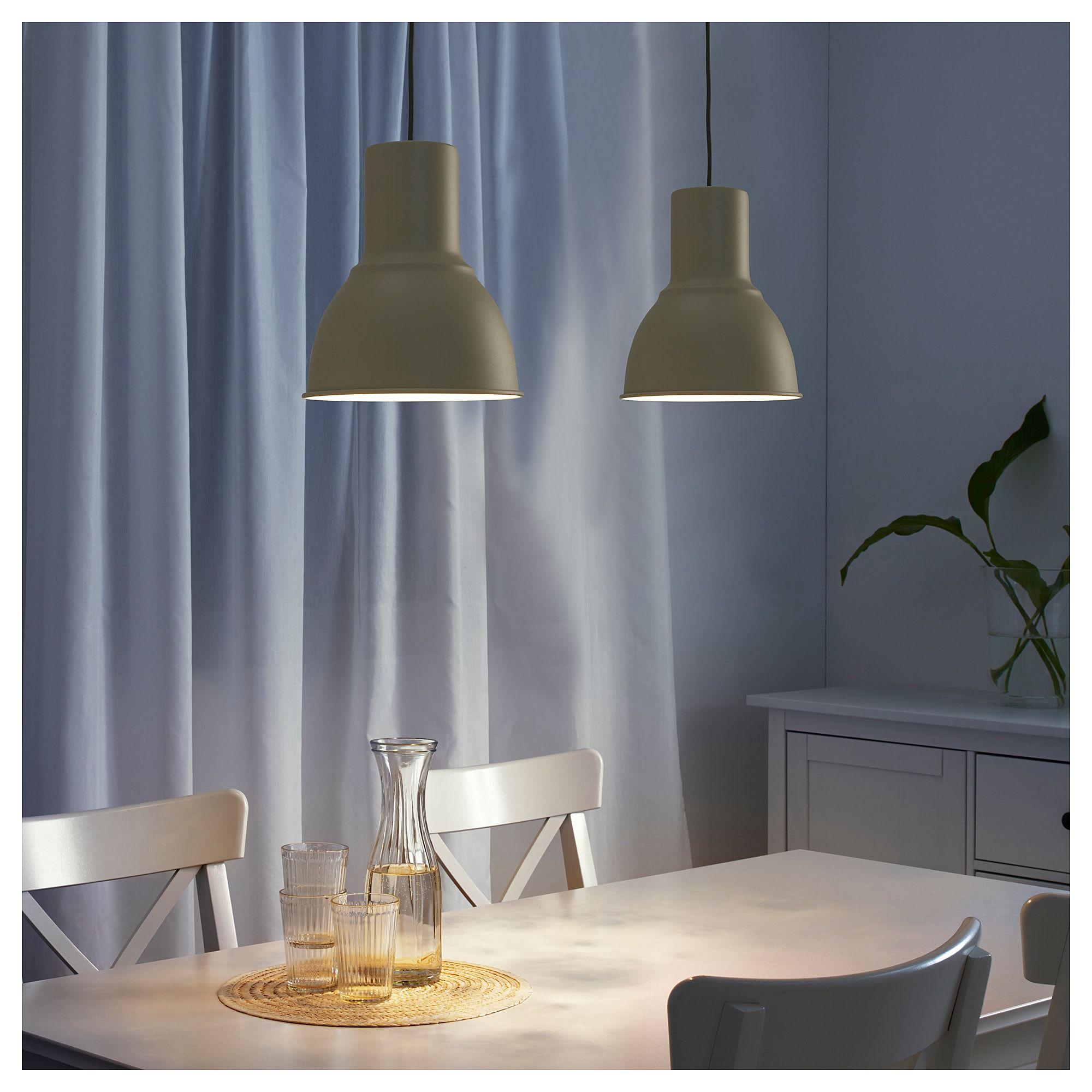 Ikea Hektar Pendant Lamp Beige In 2019 Living Room