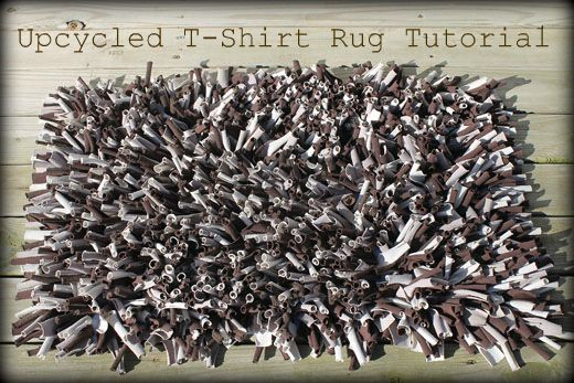 Upcycled T shirt Rug Tutorial