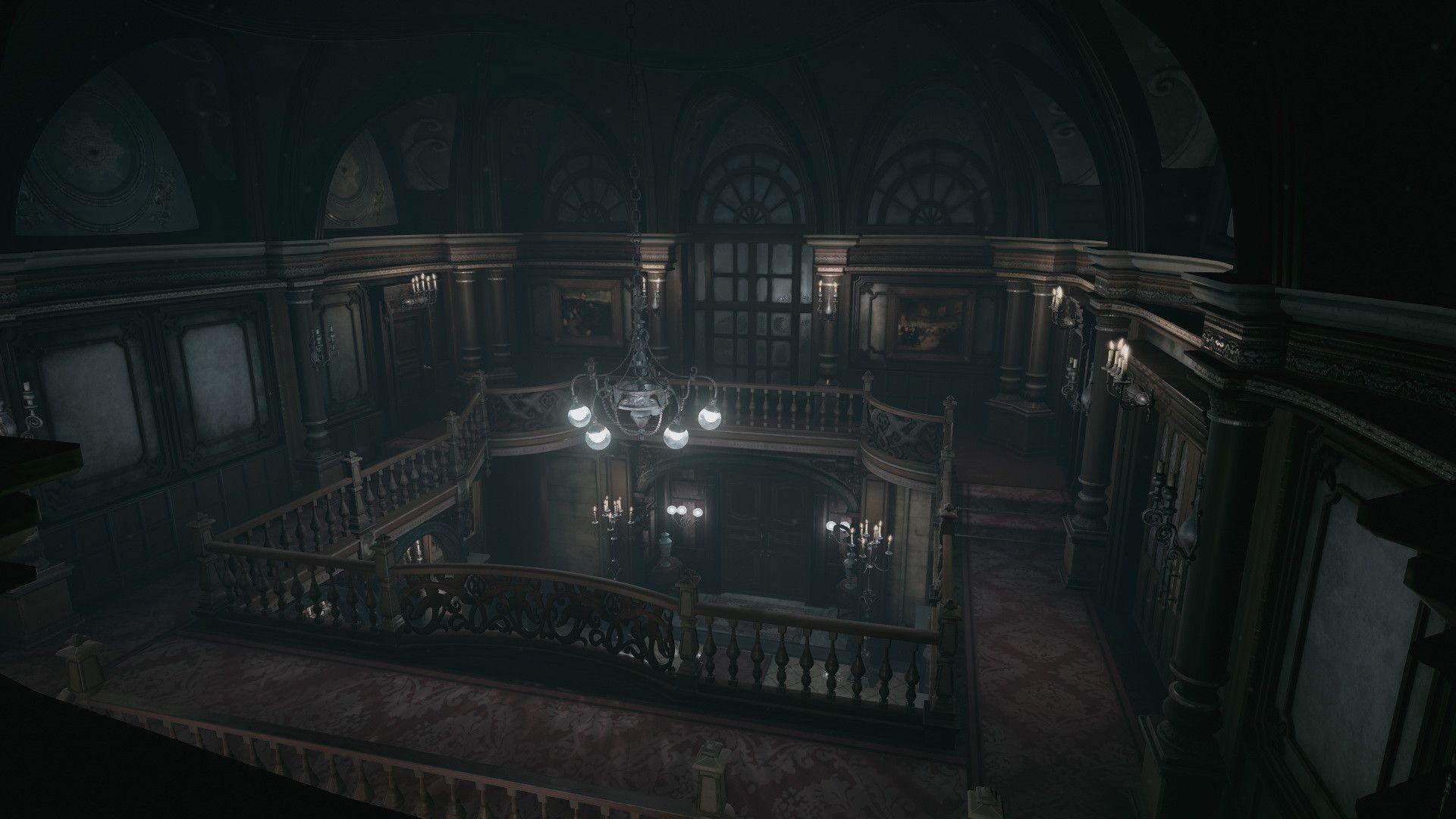 Artstation Resident Evil Main Hall Unreal 4 Demo Download B O W Qin Resident Evil Mansions Resident
