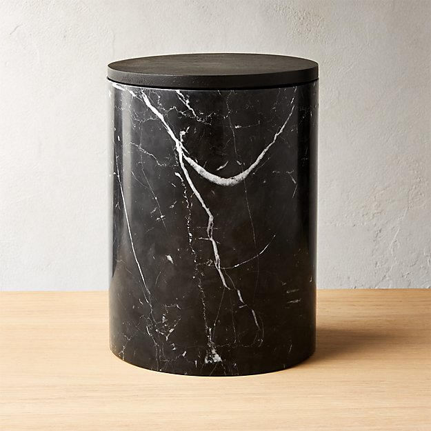 A Matte Black Kitchen Makes A Bold Statement In This: Black Marble, Calacatta Gold