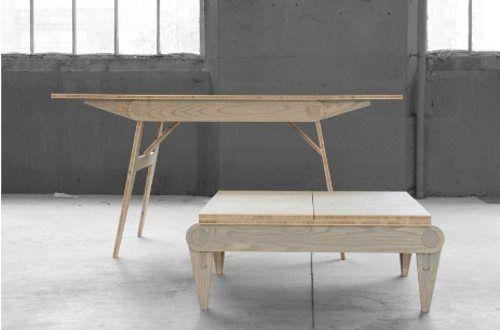 Mon Oncle A Une Table Et Relevable Par Frederic Cadet Table Relevable Meubles Pour Petits Espaces Table Basse Relevable