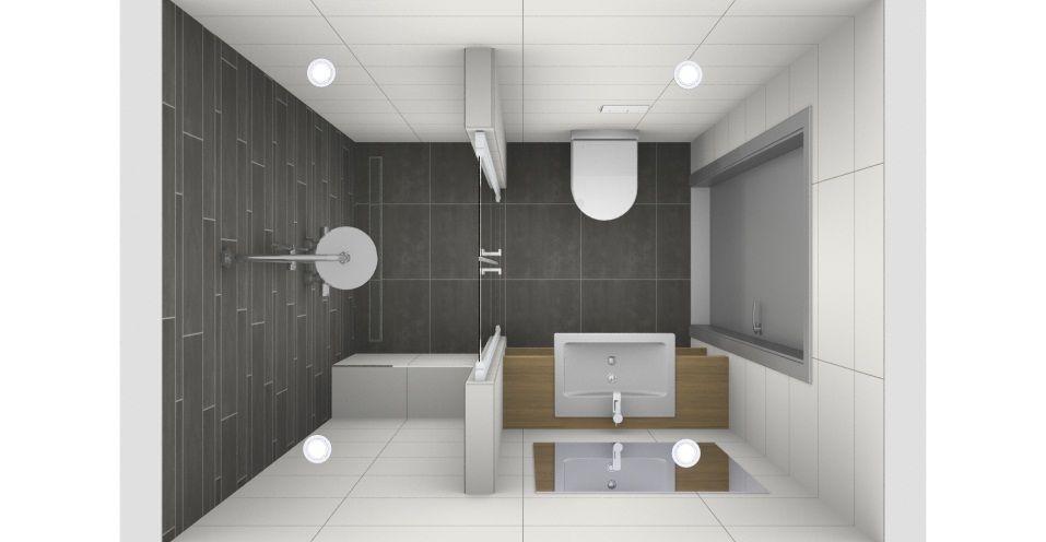 Kleine badkamer met mozaïek tegels - Van Wanrooij - Bathroom ...