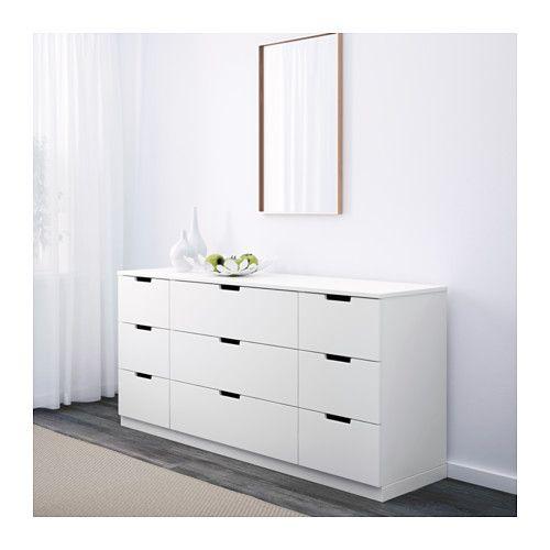 Nordli Commode 9 Tiroirs Ikea Chambre Combles Tiroir