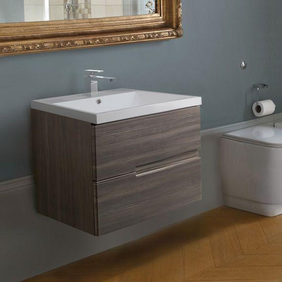 vermont 600 basin and grey avola wall mounted vanity unit bathstore
