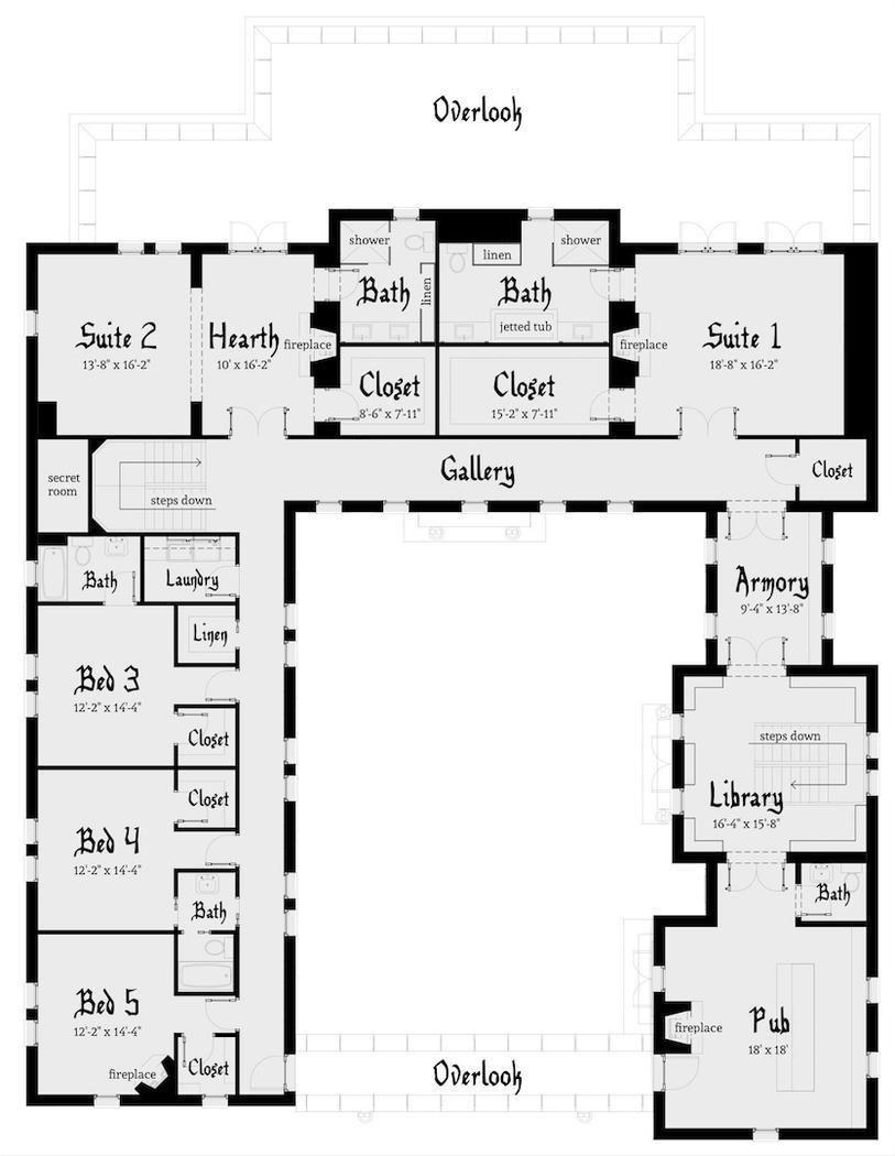 Hpm Home Plans Home Plan 003 117 Castle House Plans Castle Plans Castle Floor Plan