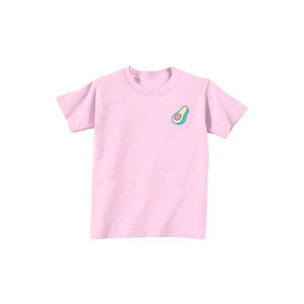 1bad831f2de9 Avocado Tee ($30) ❤ liked on Polyvore featuring tops, t-shirts, pink t shirt,  t shirts, shirts & tops, pink shirts e pink tee