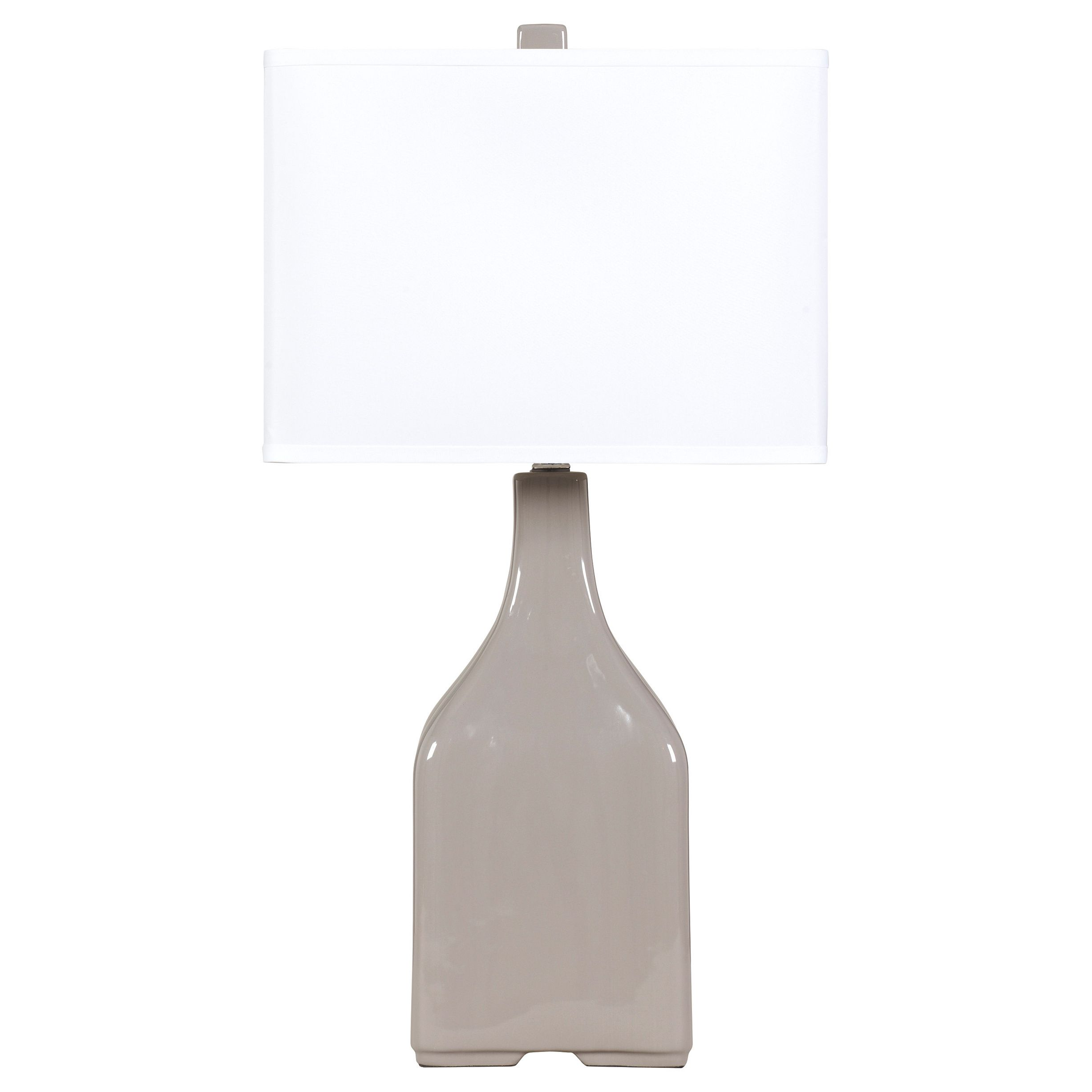 The Quilla Ceramic Table Lamp From Ashley Furniture Features A Light 3 Way Switch Options Top Is Finished With Crisp White Hardback Shade Housing For Versatile Lighting