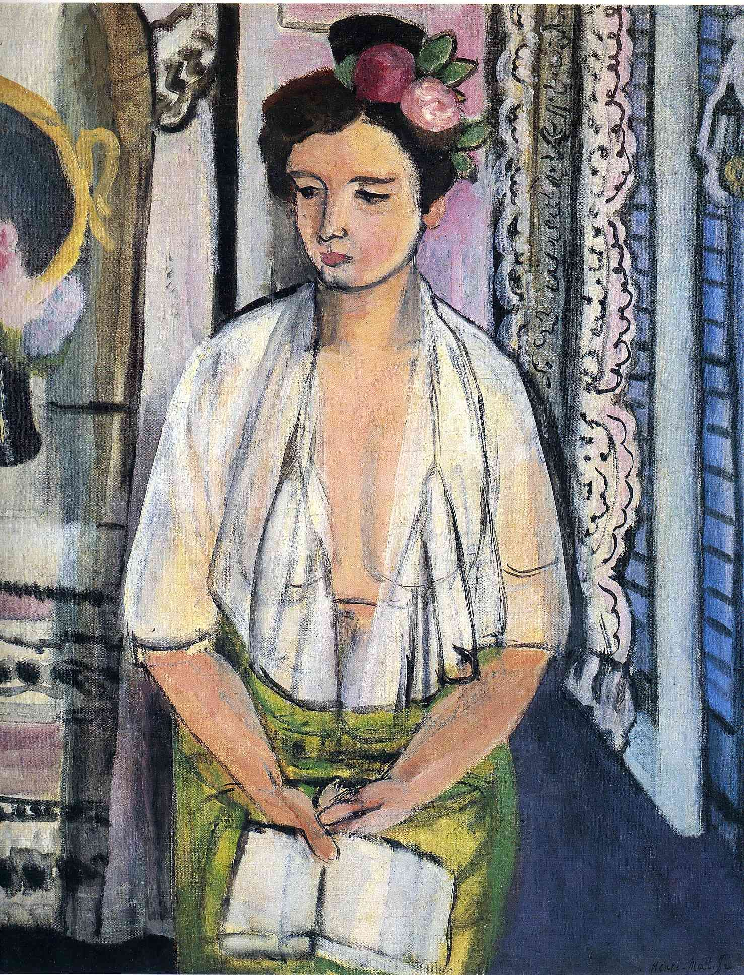 Fauvismo Pintura Henri Matisse Reader On A Black Background 1918 Matisse