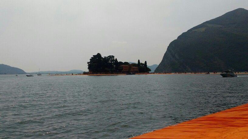 Floating piers Iseo lake