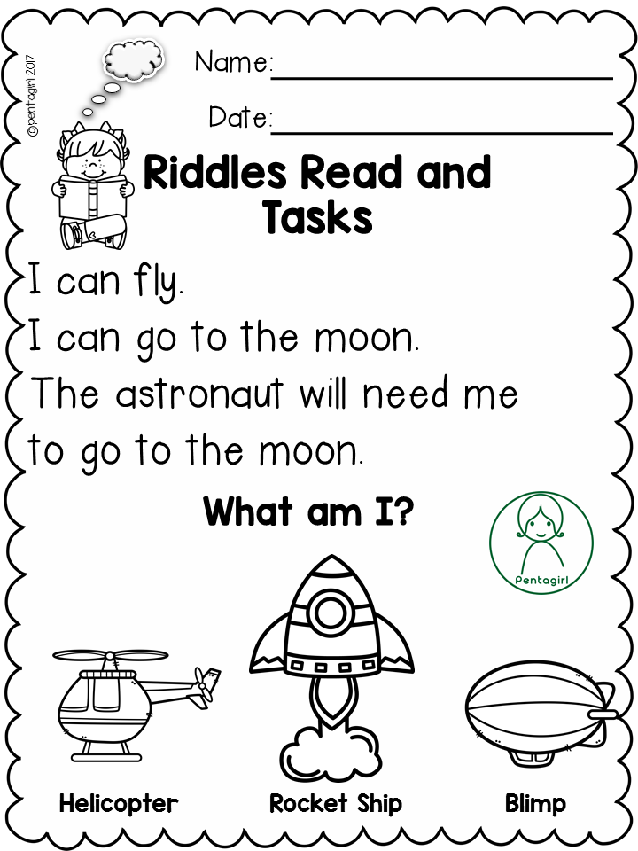 Free Riddles Read And Tasks Set 4 Reading Comprehension Kindergarten Reading Comprehension Worksheets Elementary Reading
