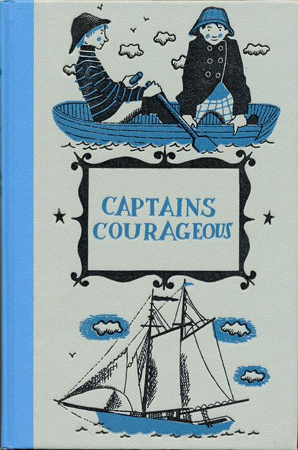 Captains Courageous  Written by Rudyard Kipling. Illustrated by Lawrence Beall Smith.  Junior Deluxe Editions, 1957.