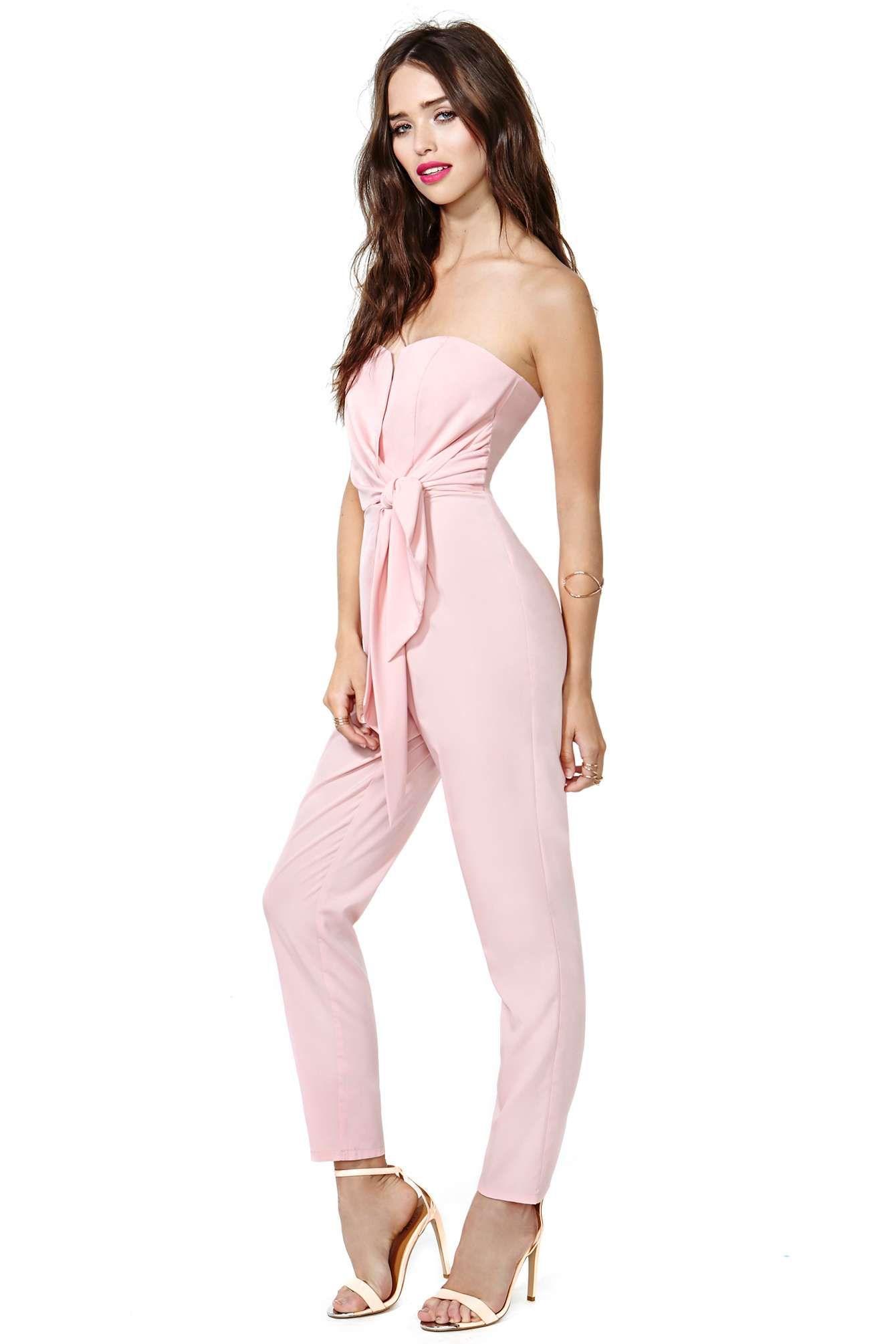 Wedding Reception Jumpsuit Sasha Jumpsuit Pink Shop Rompers