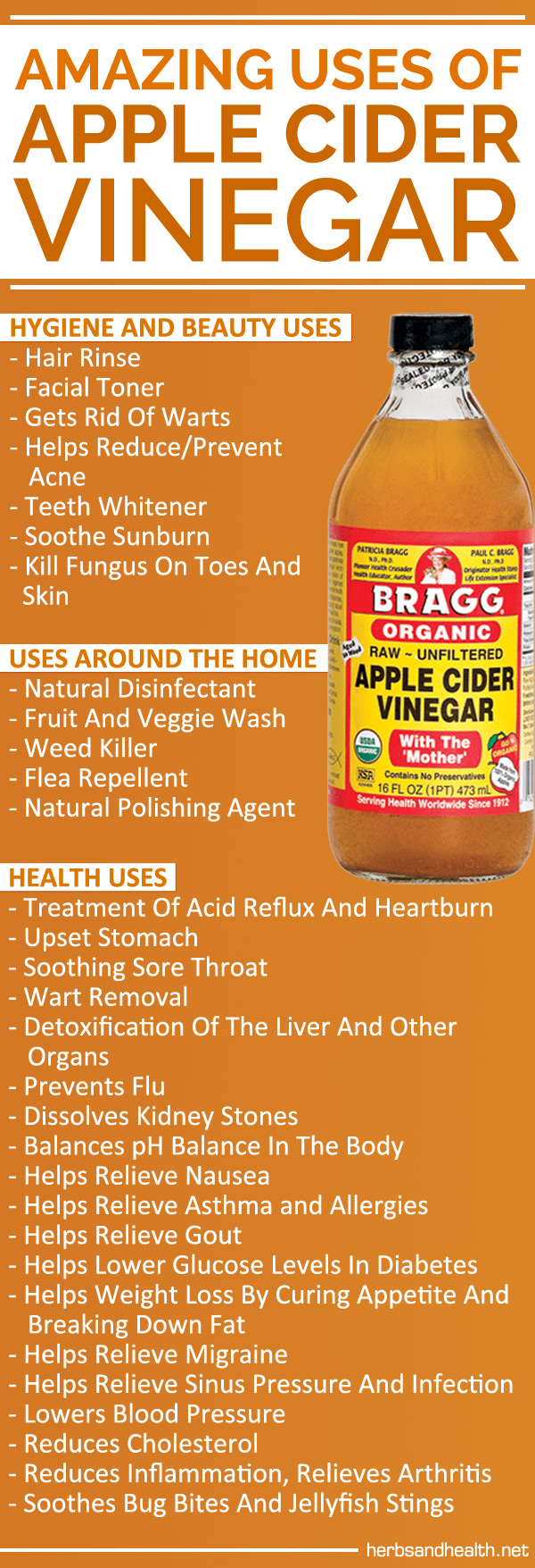 Amazing Uses Of Apple Cider Vinegar - Herbs Info #applecidervinegarbenefits