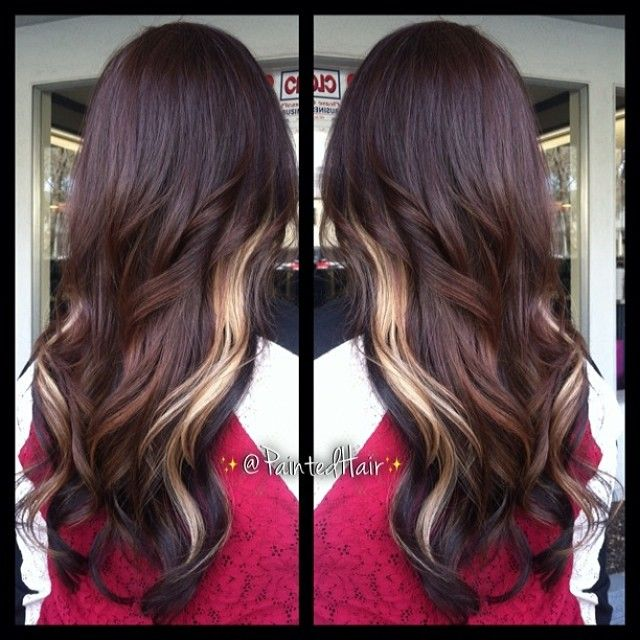 Shareig No Filter Tri Color Painted Hair With Long Layers